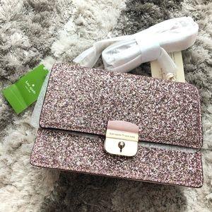 Kate Spade Limited sedition Blush Glitter Bag